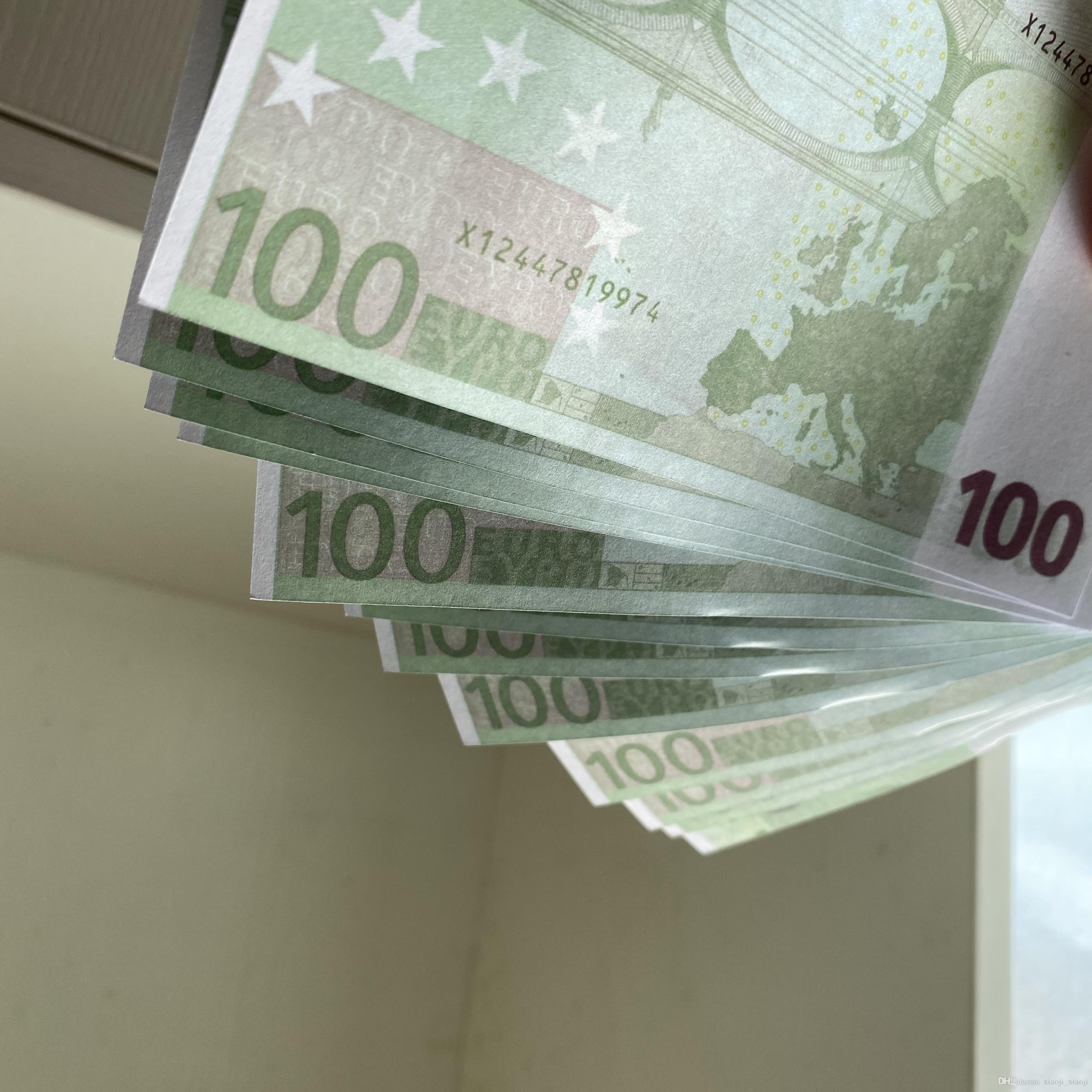 08 Selling Bar Token Pratique Euro Télévision 100 Pièces de monnaie et fausses accessoires Simulation de billets de banque jouet jeu NUGBB