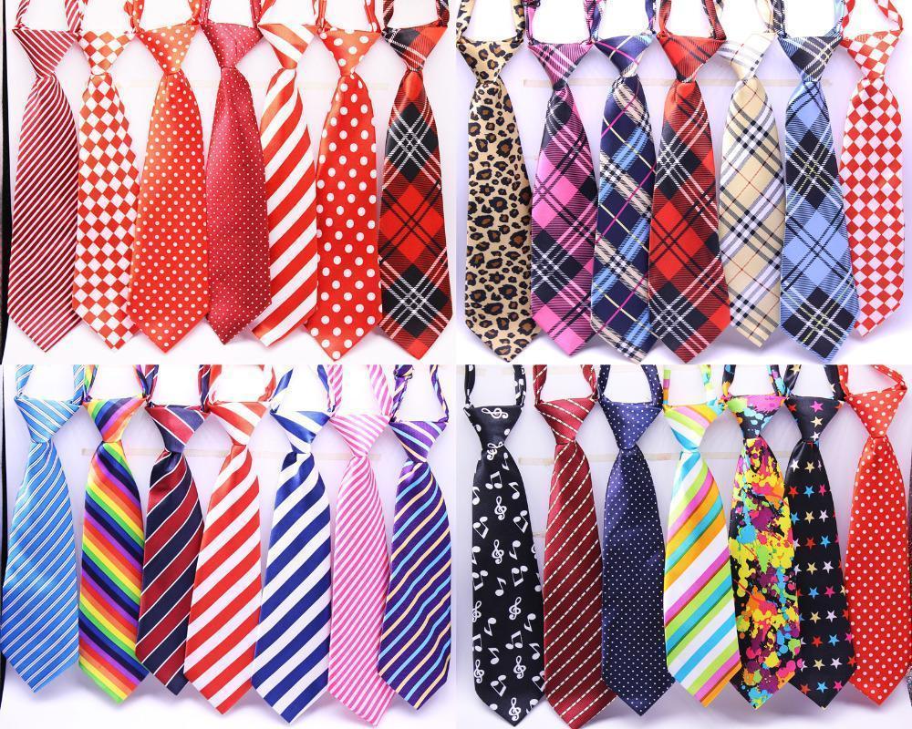 Großhandel Große Hund Krawatten 50/80 / 100pcs / lot Mix 30Farbe Große Größe Hund Krawatte Hals Verstellbare Krawatten Pflege Krawatten1
