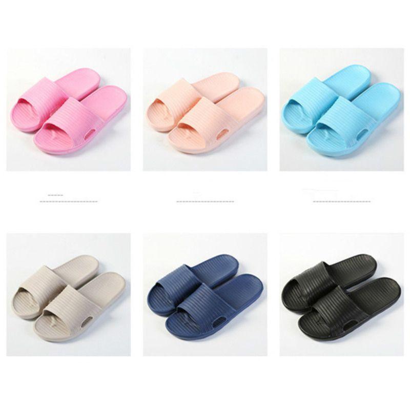 Нейтральные Тапочки можно носить All Seasons Домой Ванная комната и пляж сандалии Сыпучие Мягкая Подошвы противоскользящие Вьетнамки обувь