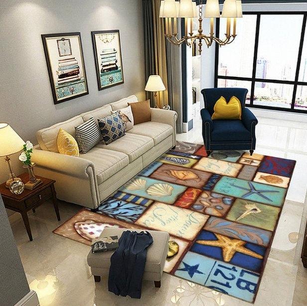 Modern Home Mat Room Bereich Teppich Boden Teppichboden für Wohnzimmer Schlafzimmer Große Trkl #