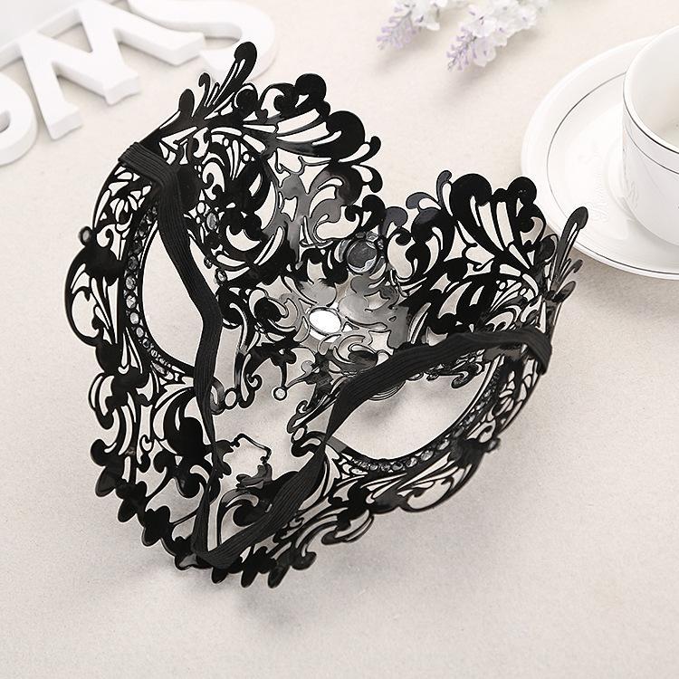 tam yüz dişi Masquerade Ball Prenses Tam yüz kadın Venedik demir maske Cosplay oyuk maske JpyIf