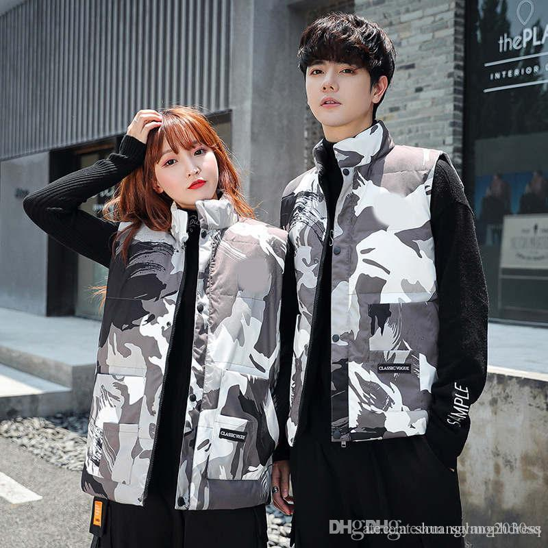 New autumn winter warm mens Stylist down jacket vest new fashion casual duck velvet Korean Canadian couple tops