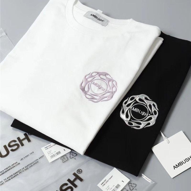 2021 Yeni Yaz Tarzı Yangın Tee 20ss T Gömlek Erkek Kadın 1: 1 En İyi Kalite Pusu T-Shirt Top Tees XME8