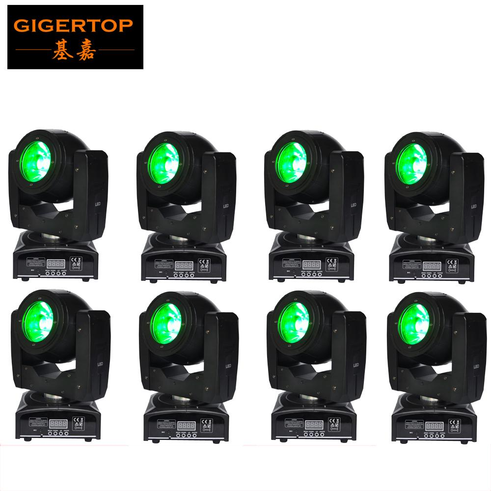 Kafa Işın Tarayıcı Işık Büyük Lens İyi Işın Açısı Sahne Etkisi Hareketli 8 Birim 60W Mini Led 16/08 Kanallar 4 Derece Mercek