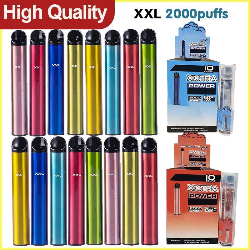 Bang XXL XXTRA Dispositivo local de vape vape de vape 2000Puffs Vapor 800mAh Batería de alimentación 6ML PODS PERSONALES PODS BARRAS BANTERAS VS Puff Barras