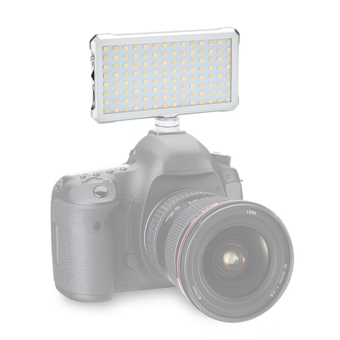 F12 Pocket 112 LEDS 1080LUX Professional Vlogging Photography Photo Studio Light con exhibición OLED para Canon Nikon DSLR Cámaras