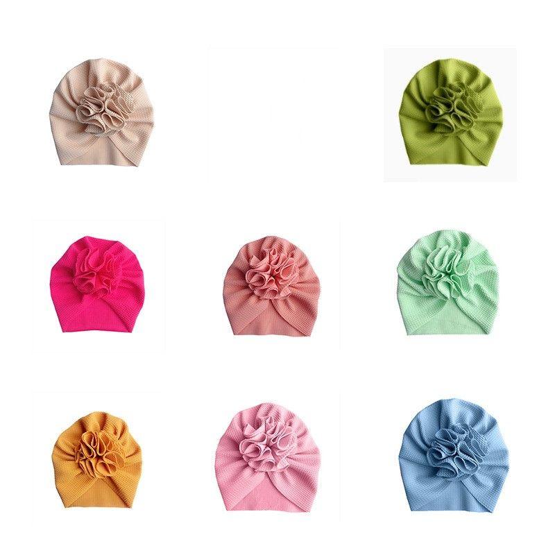 Ücretsiz DHL 18 Renkler Sevimli Büyük Yay Hairband Şapka Bebek Çocuk Toddler Elastik Kapaklar Ayçiçeği Türban Kafa Sarar Yay-Düğüm Saç Aksesuarları 538 K2