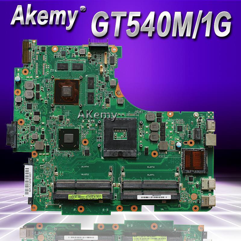 Akemy N53SV Laptop Motherboard für Asus N53SN N53SM N53SV N53S N53-Test original Mainboard GT540M 1GB HM65