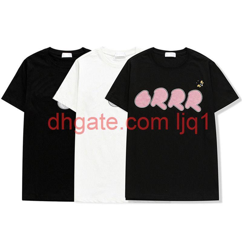 21ss Fransa 3D Mektubu Nakış T-Shirt Erkekler Kadınlar Çift Yaz En Kaliteli Paris Sokak Tee Erkekler S Giyim Rahat Kısa Kollu Jumper