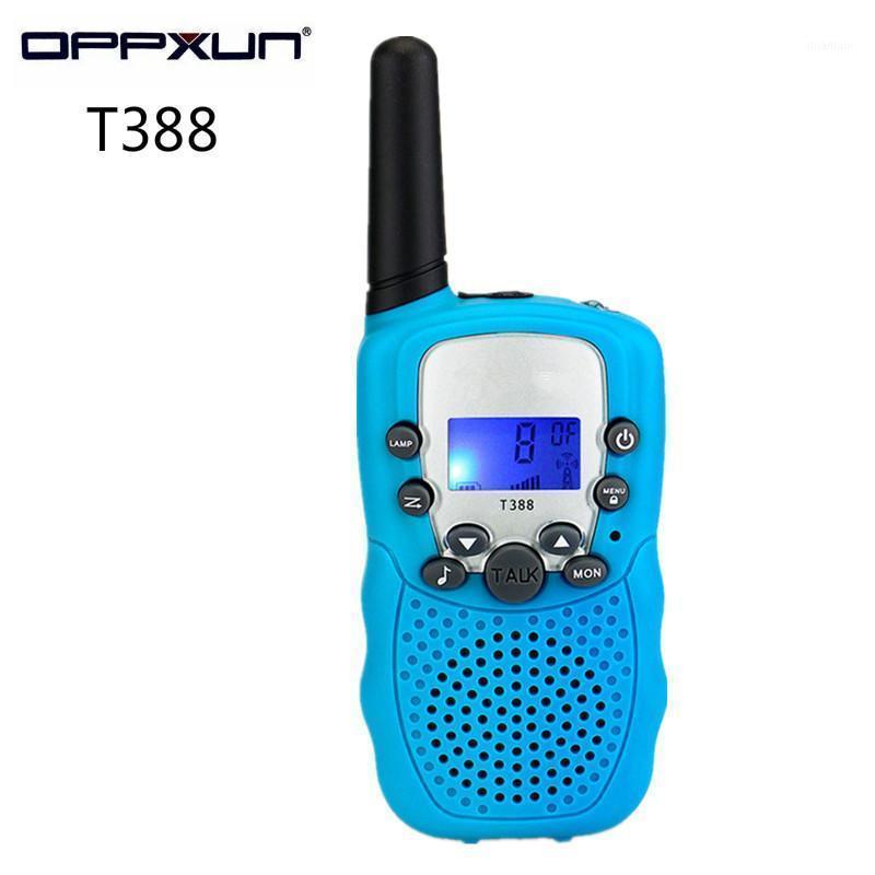 Walkie Talkie 2pcs Oppxun T388 Kids Mini Duas vias Carro Rádio Estação Portátil Communicator Presente Para Criança 2021 Telsiz CD 1.5km1