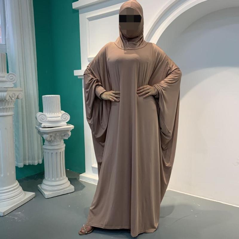 Muslimisches Gebet Kleidungsstück Abaya Frauen Hijab Kleid Burka Niqab Islamische Kleidung Dubai Türkei Formale Namaz Lange Khimar Jurken Abayas