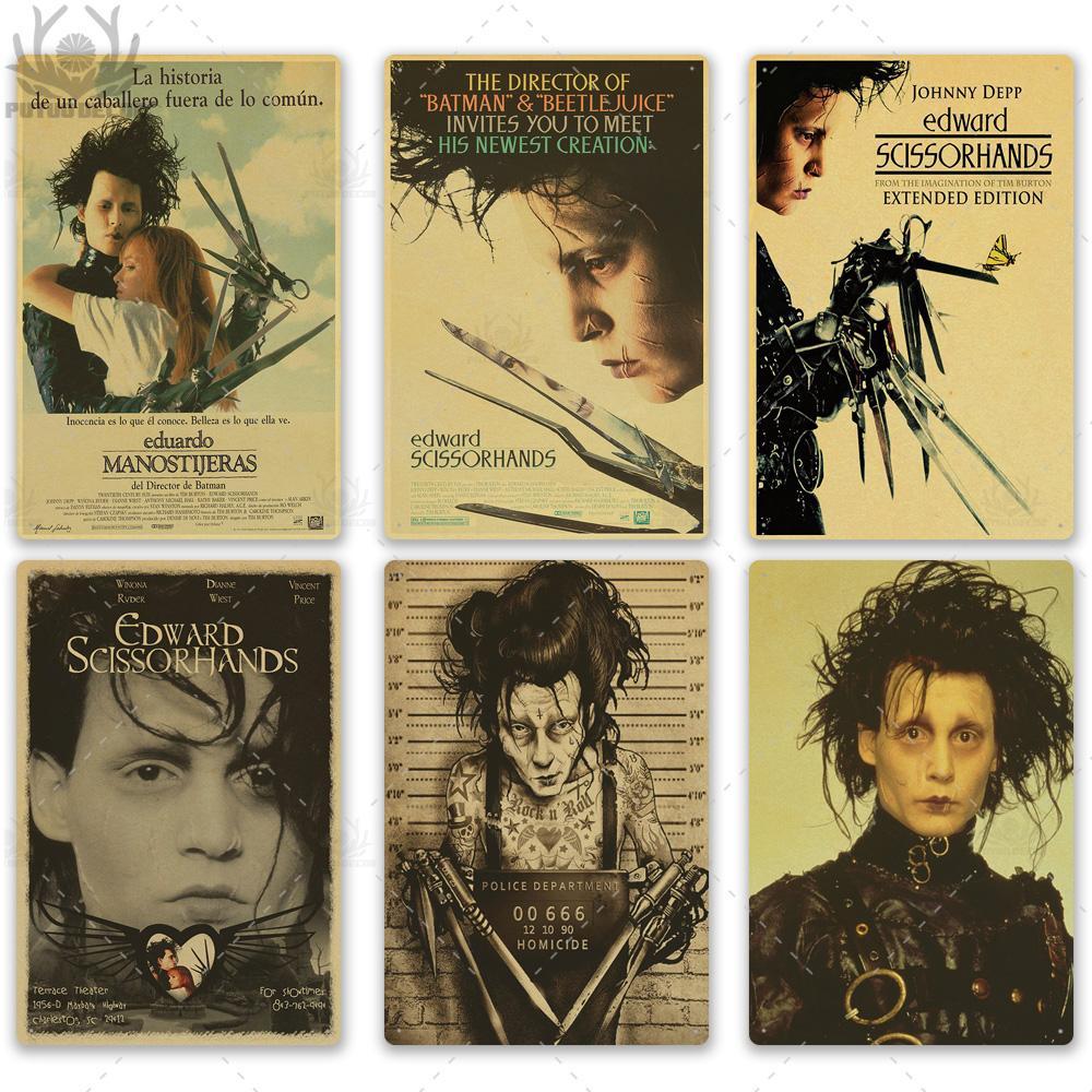 2021 drôle Edward Classic Film Affiche en métal Plaque Plaque Métal Métal Décor mural pour homme Cave Salon Films Arts Carfts Poster mural