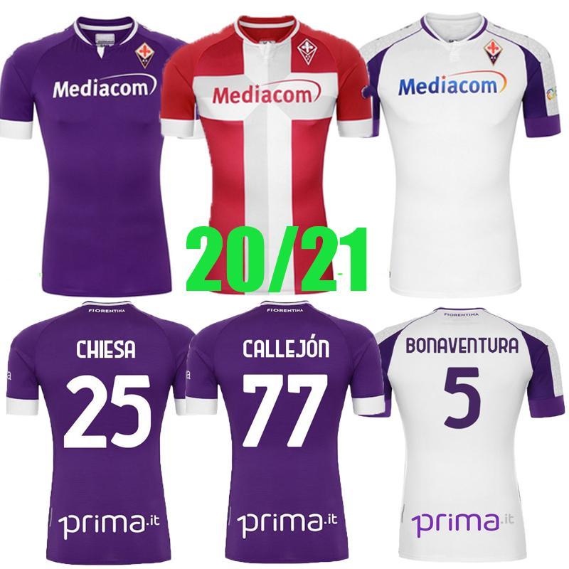 20 21 Fiorentina Erkekler Futbol Formaları Ribery Callejon Prens Pezzella Chiesa Fiorentina Futbol Gömlek Vlahovic Maillot De Ayak
