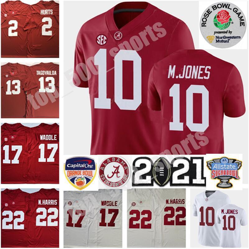 2021 Playoff Alabama Crimson Tide Mac Jones Jersey Ncaa Jaylen Waddle Tua Tagovailoa Najee Harris Devonta Smith Jalen은 John Metchie III를 아프게합니다.