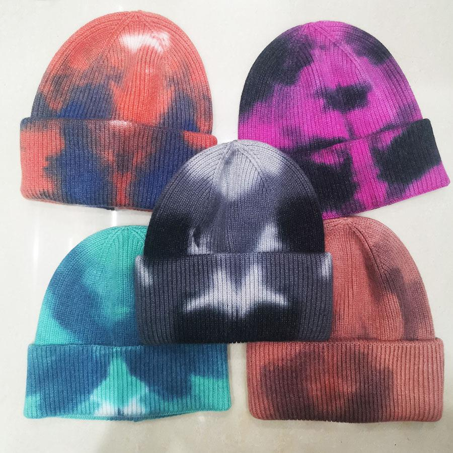 2020 5 Colors Classic Ladies Womens Slouch Beanie Knitted Oversize Beanie Skull Hat Caps Lovers Kintted Cap Solid Beanie Caps