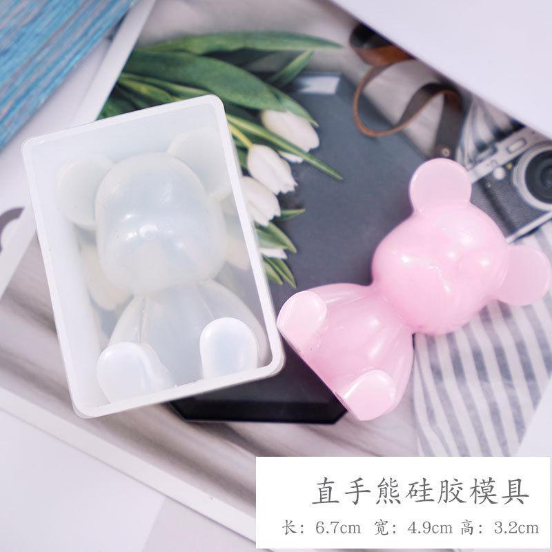 Stampi in silicone resina epossidica fai da te Colla di goccia Grue Crystal Yellow Duck Duck Unicorn Dritto Orso Specchio Specchio Stampo Decorare gli strumenti artigianali Nuovo 9S