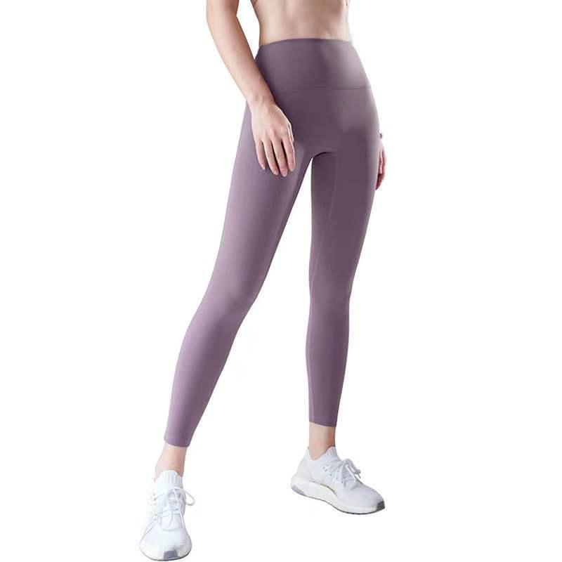 Новые обнаженные брюки йоги Женская подъем для ягодиц без смущения LU Высокая талия Фитнес жесткий Capris6
