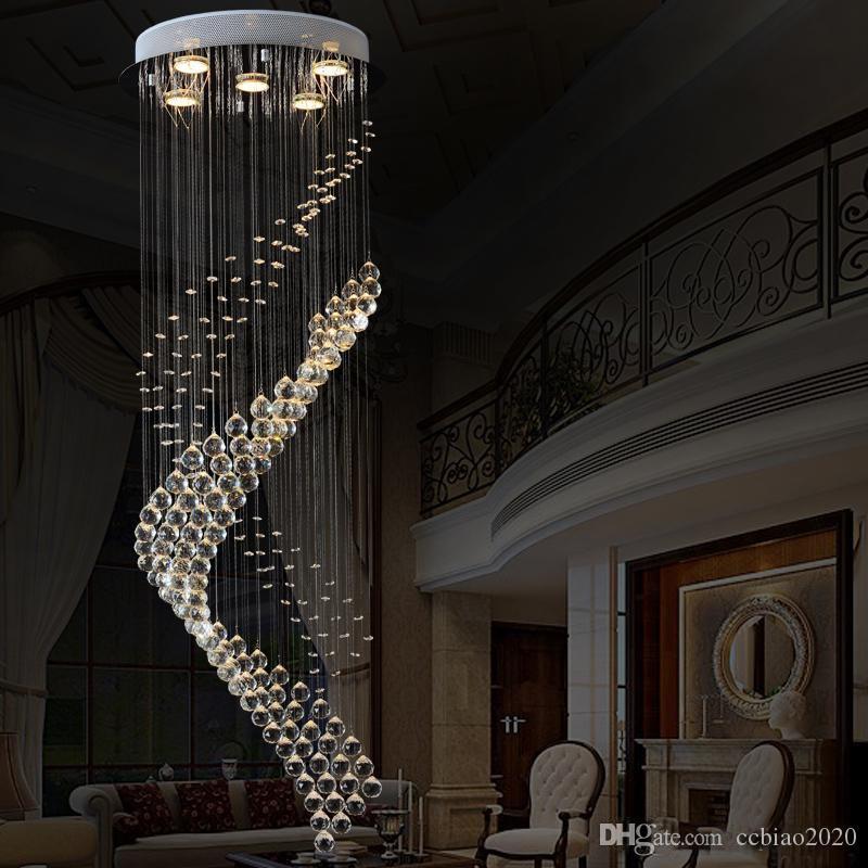 Royal Crystal Loft Vintage Chandelier de estilo Europa con GU10 5 Luces para sala de estar Dormitorio Dormitorio Lobby Restaurante Corredor Free Freight