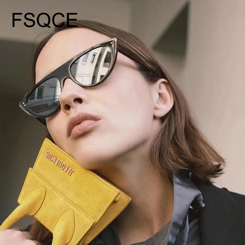 Оттенки для сбора винограда женщин Солнцезащитные очки Cat глаз очки Марка Дизайнер ретро Sunglass Женский UV400 Солнцезащитные очки Weird Бейонсе