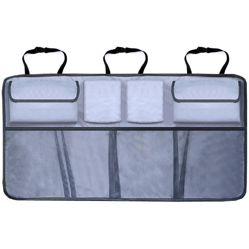 Caractéristique de l'organisateur de sécurité de la voiture Sac de rangement arrière réglable Sac de rangement de haute capacité multi-usage multi-utilisations Oxford Automobile Sat Organisateur LJ201118