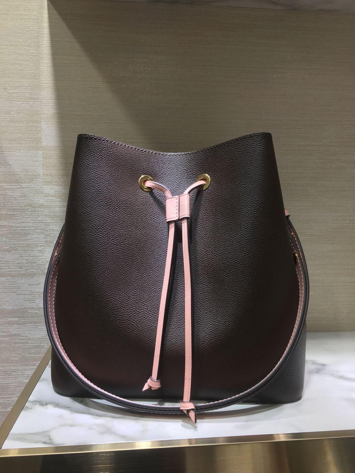 Toptan orignal gerçek deri moda ünlü omuz çantası tote tasarımcı çanta presbiyopik alışveriş çanta messenger çanta neonoe kova çantası