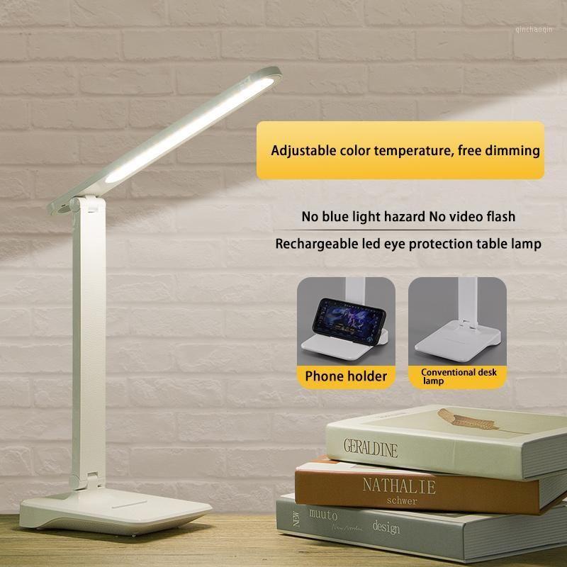 Lámpara de mesa LED recargable Protección de ojos Luz natural Lámpara de escritorio Lámpara 24pcs LED Tabla de atenuación de electrodismo 100
