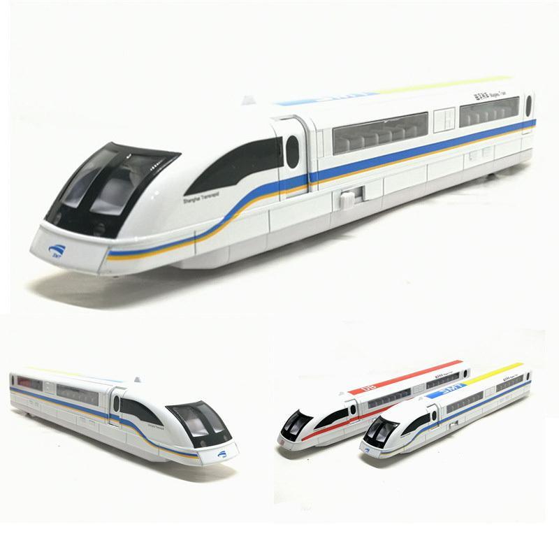 Oyuncak 1/87 Yüksek Simülasyon Maglev Tren Alaşım Model Araba Yüksek hızlı Tren Ses Işık Çekme Geri Oyuncaklar İçin Çocuk