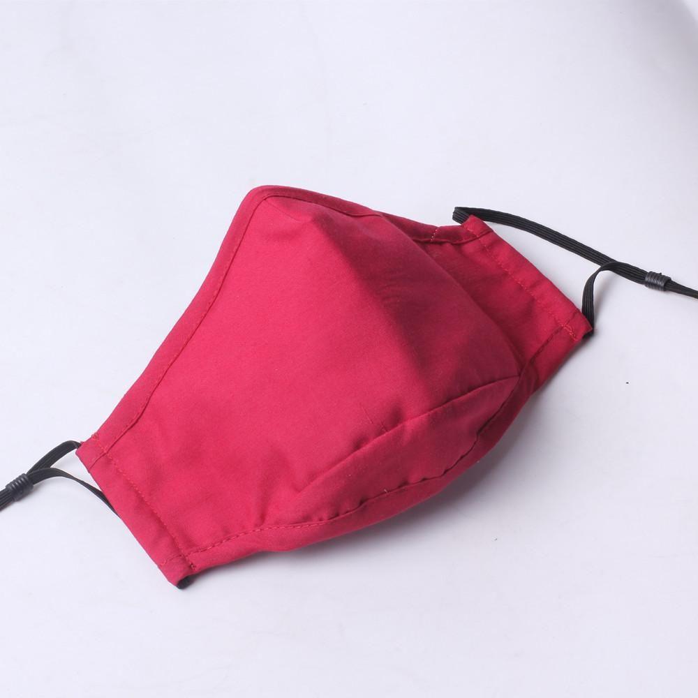Baumwolle Maske ohne das Ventil rein solide Farbe Mode Gesichtsmaske Waschbar 4 Farben schnell waschbar Gesichtsmaske AHE2463 Versand bieten wählen