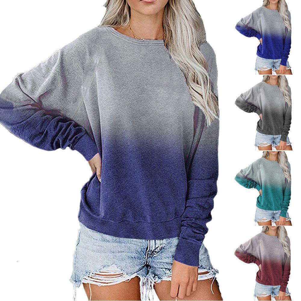 Pullover top de manga longa Tapered 2020 nova camisola solta casuais