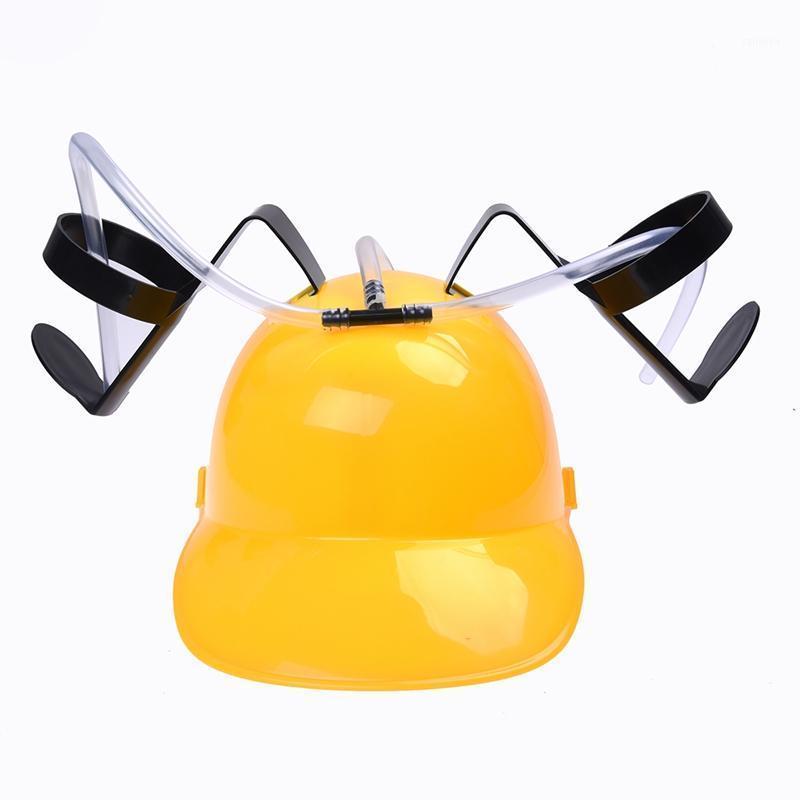 Bira kola içecek içmek kask şapka olabilir tutucu parti oyuncakları sarı1