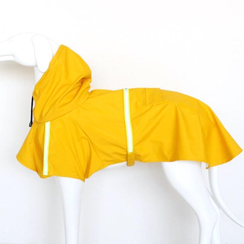 Пять цветной водонепроницаемый палочкой для собак Плащ для собак Светоотражающий дождевой дождевой плащей для малых средних больших собак Размер S-5XL 201015