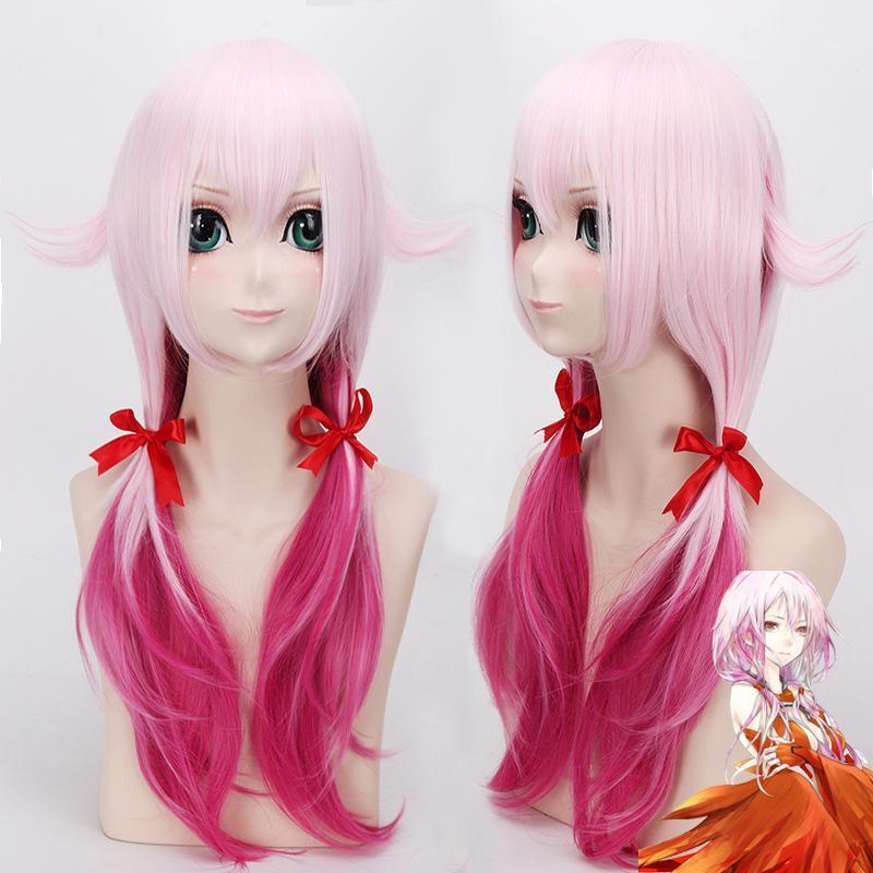 2019 японские аниме виновные короны (GC) Yuzuriha inori парик косплей стильные дамы оттенок розовый фиолетовый двойной лошадь WIG1