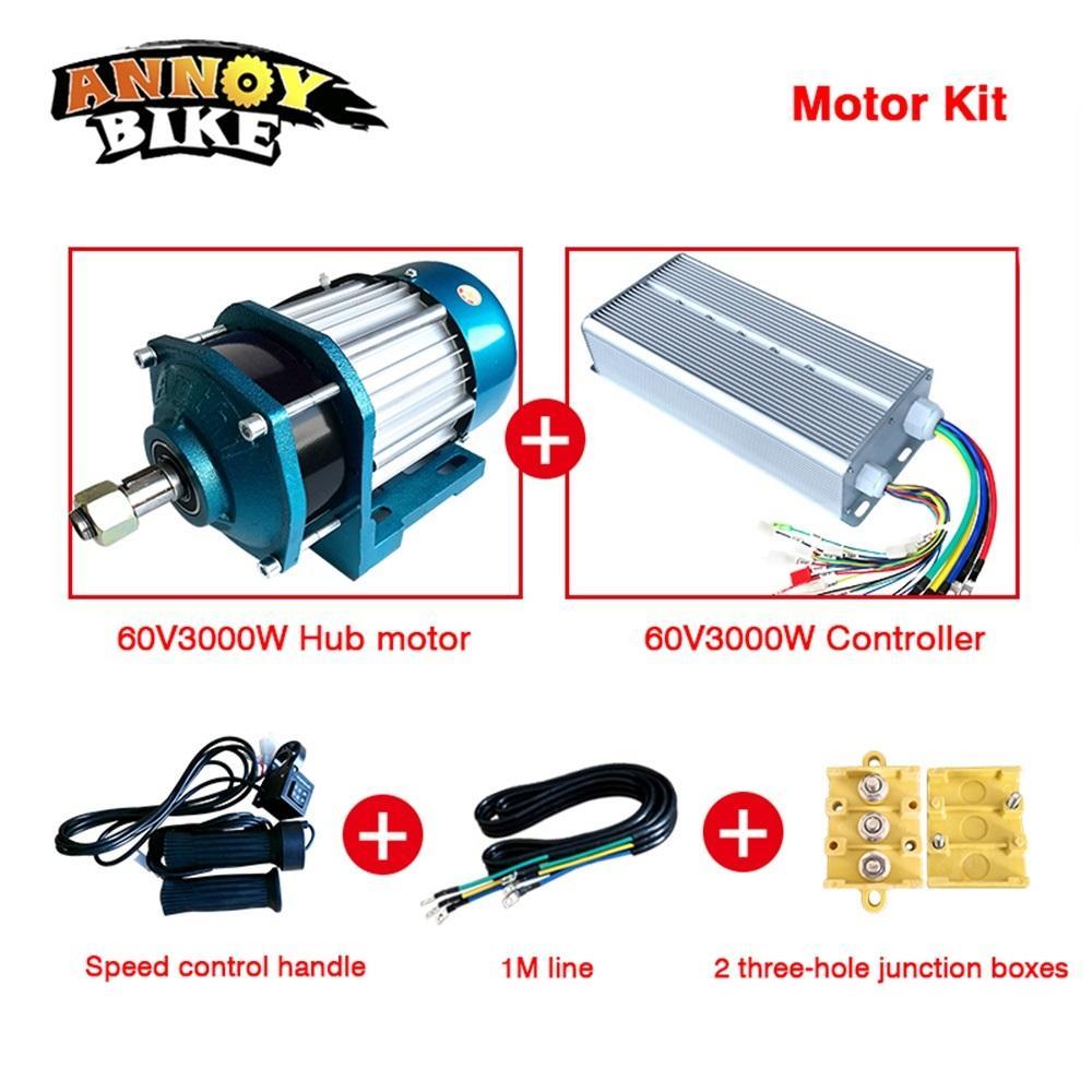 60V3000W Tekerlekli Bisiklet Fırçasız Motor Dişli BLDC Kargo motorlu Elektrik motosiklet DC Motor e bisiklet motosiklet DIY kiti değiştirmek