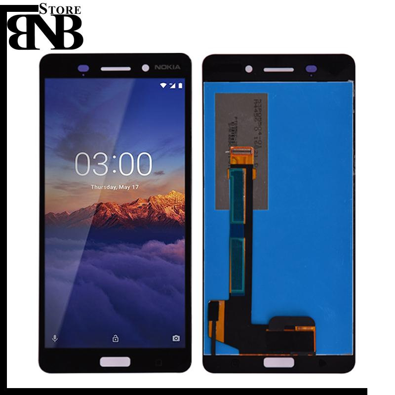 Original For Nokia N6 6 LCD Display With Touch Screen Digitizer Sensor Panel Pantalla Assembly Replacement Parts