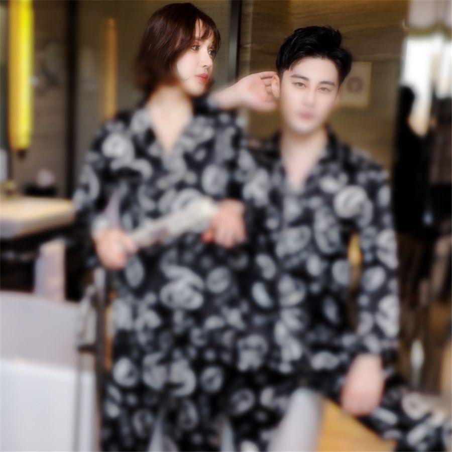 Yeni Bahar Bayan Gömlek Pantolon Suit Robe Banyo Kıyafeti Pijama Setleri Casual Uzun Kollu Üst Pijama Bayanlar Ev Giyim Gecelik # 88711111