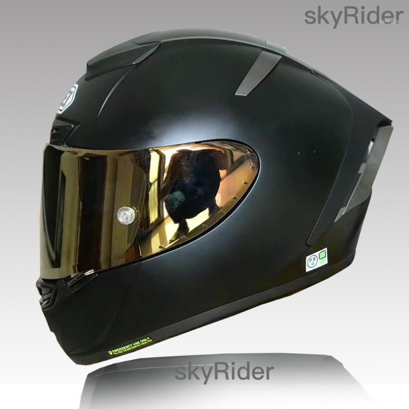 Tam Yüz Motosiklet Kask X14 Mat Siyah Kask Sürme Motocross Yarış Motobike1