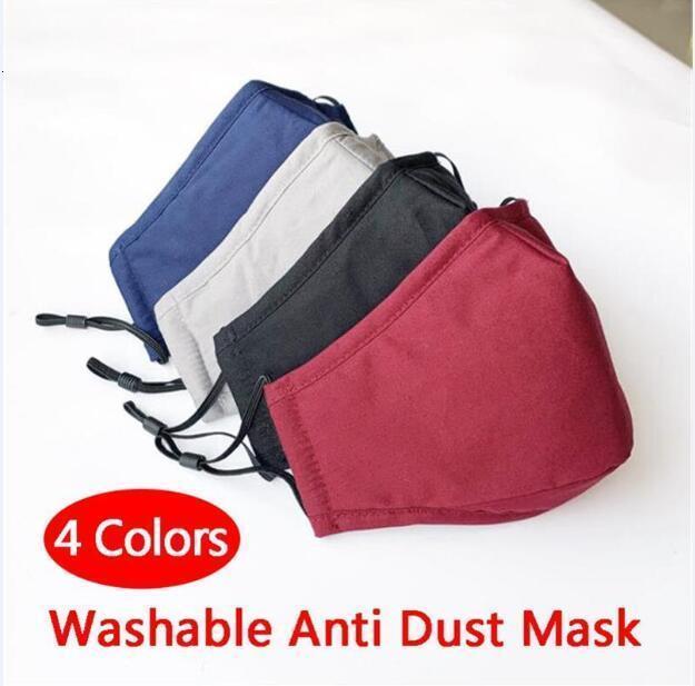 Lavable anti del polvo de la máscara a prueba de viento Boca-mufla Prueba de algodón PM2.5 máscara bucal anti-niebla Haze impedir que las mascarillas Cuidado Facial Caliente