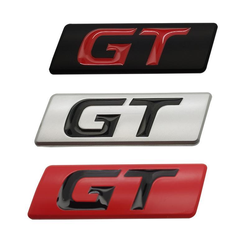Autoadesivo dell'automobile dell'emblema del distintivo della GT decalcomanie della Peugeot Hyundai GT BMW Ford Focus Mondeo KIA Forte Optima Picanto Stinger Sorento Renault