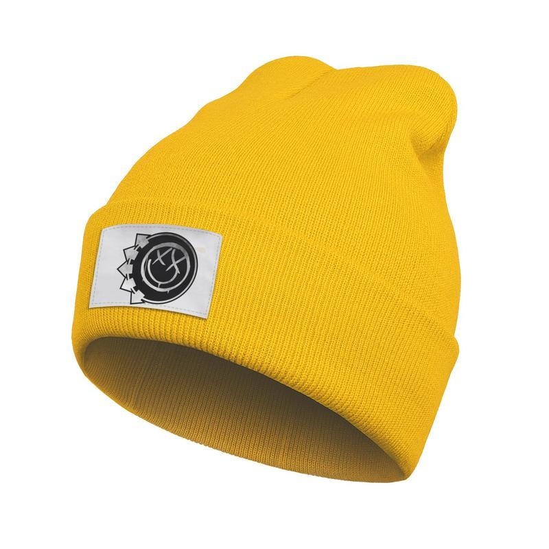 Mens Women Fashion Beanie Hats Blink 182 Punk rock Vintage old Fine Knit Street Dancing Knitted Cap