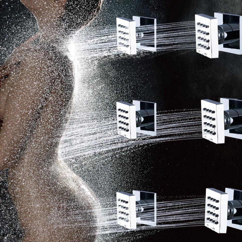 도매 및 소매 황동 샤워 바디 마사지 제트 4/6 PC 욕실 스파 마사지 분무기 노즐 레인 제트 시스템 4 색 옵션 201105