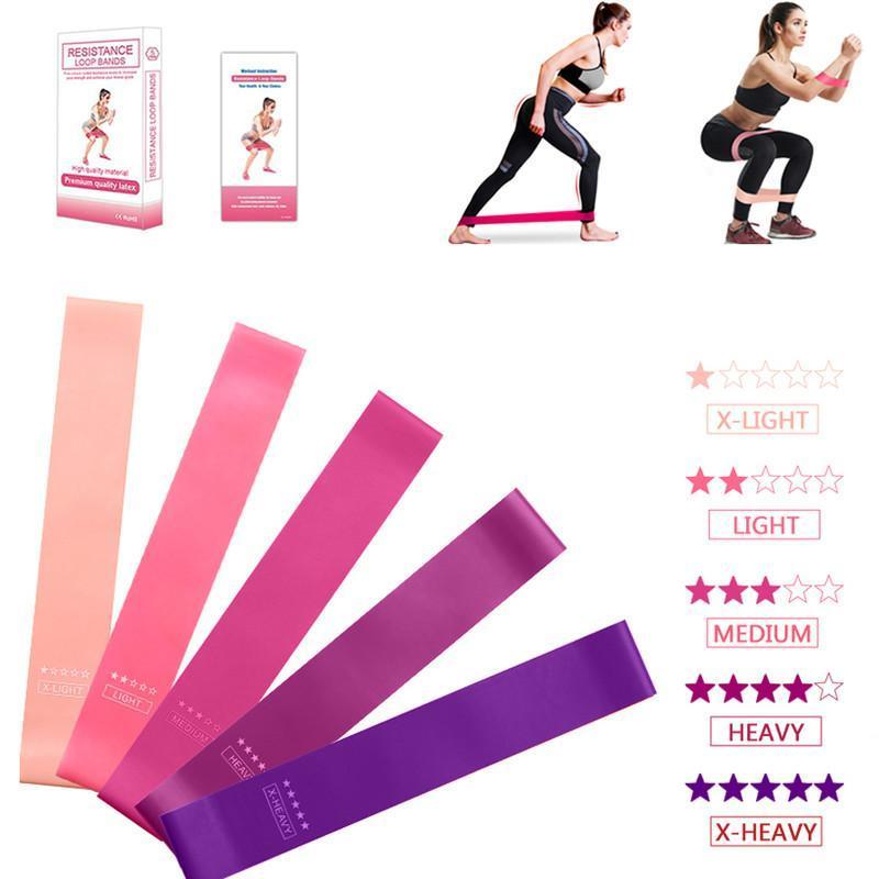 Widerstandsbänder 5 stücke Training Fitness Gummi Übung Gym Kraft Pilates Sport Gummi Crossfit Trainingsgeräte