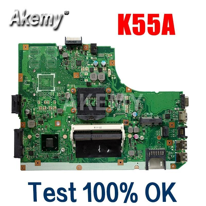 Amazoon K55A Laptop Motherboard für Asus K55A A55V K55VD K55V K55-Test original Mainboard GM