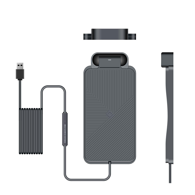 C11 Tapis de chargeur sans fil de voiture de voiture pour iPhone XS 10W de chargement rapide de la station de bord de la station d'accueil pour téléphones mobiles QI AirPods 1 2 pro