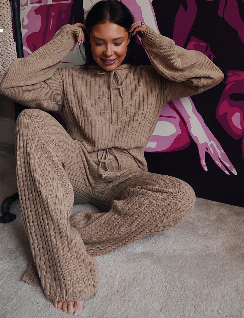 Nuevo conjunto de dos piezas 2021 conjunto otoño cómodo ropa callejera estilo kpop estilo mujer ropa PAX8 DGFD