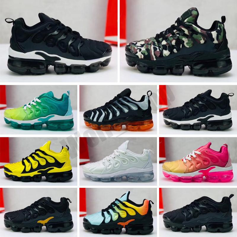 VaporMax Plus TN Sneakers da ginnastica per bambini di alta qualità per bambini New Boy Girl Baby Child Nero Bianco Multi Plus Tn Scarpe da corsa da corsa classiche