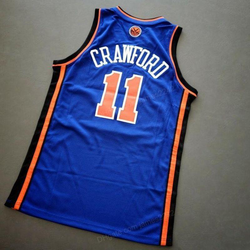 Custom Retro Jamal Crawford # 11 Jersey Basketball Bleu cousu Bleu One Taille 2xs-4xl 5XL Nom ou numéro de maillot