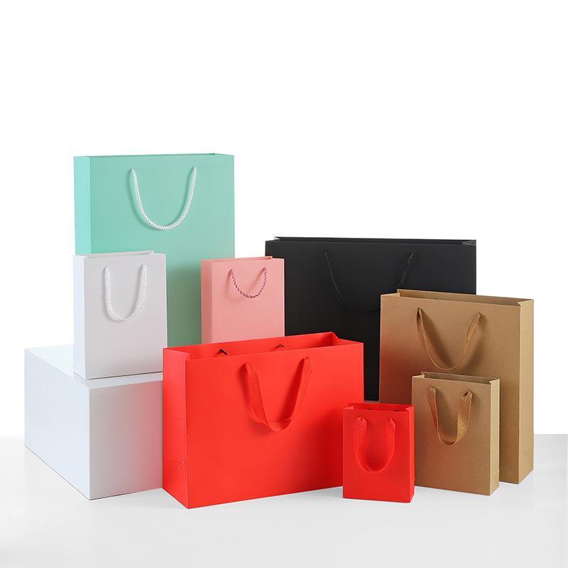 حقائب كرافت ورقة حقيبة يمكن Customlogo متجر لبيع الملابس التعبئة حقيبة تسوق كيس الهدايا هدية التفاف أكياس XD24073