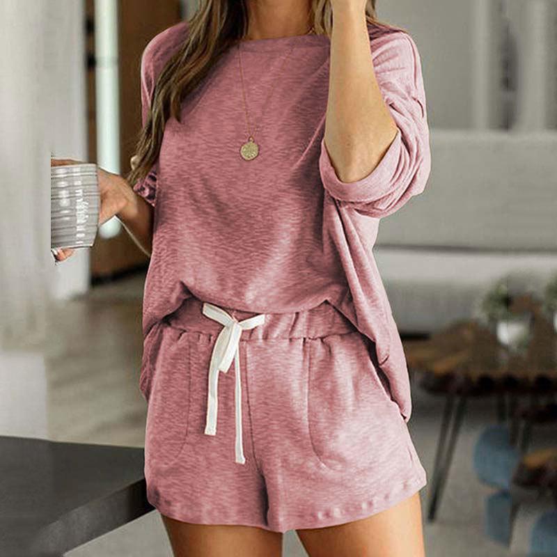 Осенние пижамы пижамы пижамы женские женские ожоги свободные женщины с длинным рукавом ночная одежда набор сна 201102