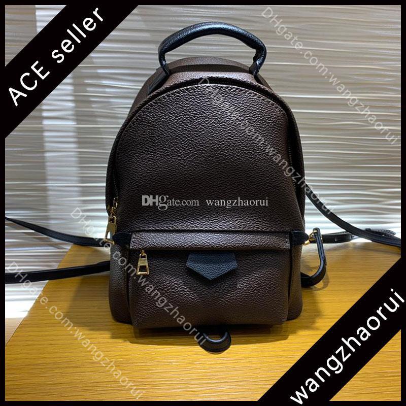 5a Top Quality Palm Spring Mini Desig Desig Backpack Leather Schoall Bags Borse di moda Satchel Lady Mochilas Famoso Bran Zack con scatola B010