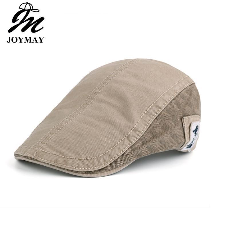 JOYMAY neue Sommer-Baumwolle Berets Kappen für Männer lässig Schirmmützen Einfarbig mit Etikett Berets Hüte Casquette Cap Y007